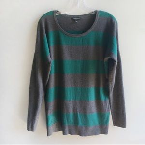 Banana Republic factory sweater green striped
